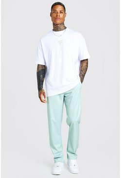 Sage Oversized Man T-Shirt & Tricot Jogger Set