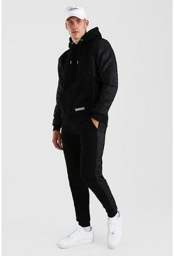 Black Man Official Padded Hooded Tracksuit
