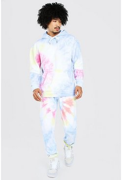 Multi Loose Fit Official Tie Dye Hooded Tracksuit