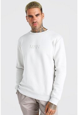 Silver Original MAN Crew Neck Sweatshirt