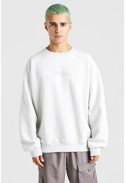 Silver Oversized Original MAN Sweatshirt