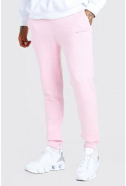 Pink MAN Official Skinny Fit Marl Jogger