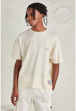 Beige MAN Oversized Waffle T-Shirt