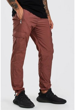 Mauve Nylon Pocket Jogger