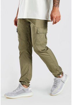 Khaki Nylon Pocket Jogger