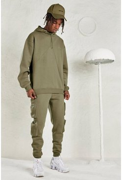 Sage silver MAN Oversized Hoodie & Jogger Tracksuit