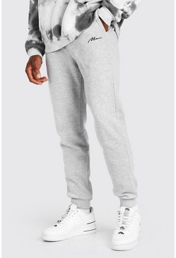 Grey MAN Signature Embroidered Loose Fit Jogger