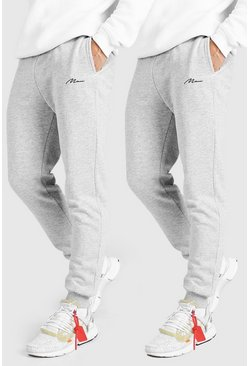 Grey marl 2 Pack MAN Signature Slim Fit Jogger