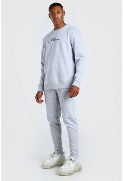 Grey marl MAN Signature Sweater Tracksuit