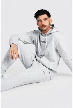 Grey marl Original MAN Regular Hooded Tracksuit