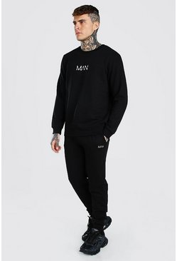 Black Original MAN Sweater Tracksuit