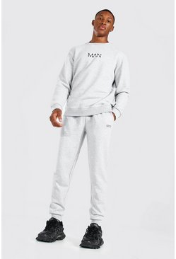 Grey marl Original MAN Sweater Tracksuit