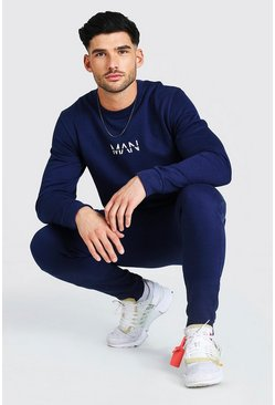 Navy Original MAN Sweater Tracksuit