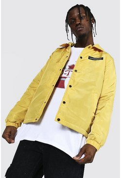 Yellow MAN Official Branded Nylon Coach Jacket