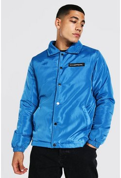 Veste coach en nylon MAN Official, Bleu denim