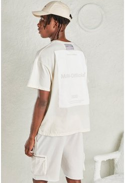 White MAN Oversized Tee with Large Back Print