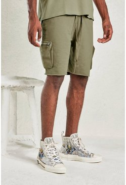Sage silver Relaxed Short With Utility Pocket
