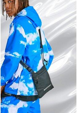Black Man Coated Ripstop Cross Body Bag