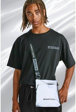 Silver Man Reflective Ripstop Cross Body Bag