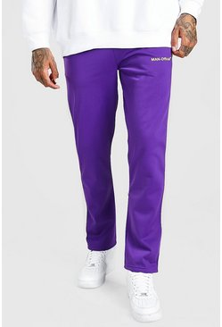 Purple MAN Official Tricot Joggers With Side Tape