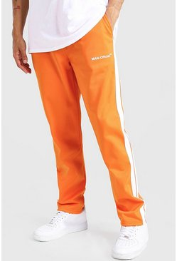 Orange MAN Official Tricot Joggers With Side Tape