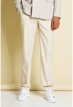 Stone Relaxed Plain Belt Detail Smart Trousers