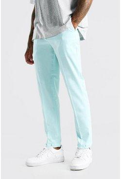 Mint Slim Plain Elasticated Cuff Smart Trouser