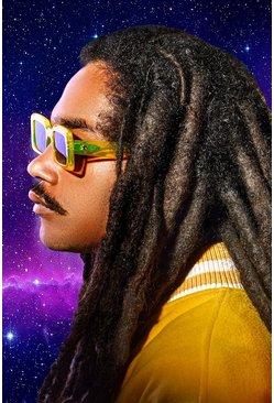 Yellow MAN x Roberi & Fraud Square Frame Sunglasses