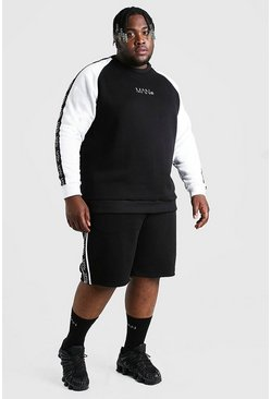 Big And Tall MAN Colour Block Tracksuit, Black