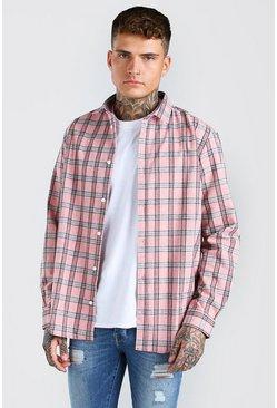 Coral Long Sleeve Check Shirt