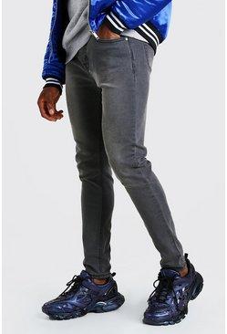 Charcoal Skinny Fit Denim Jeans