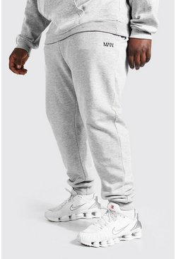 Grey marl Plus Size MAN Dash Skinny Fit Jogger
