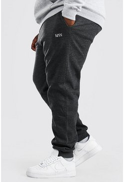 Charcoal Plus Size MAN Dash Skinny Fit Jogger
