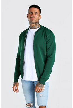 Green Smart Knitted Bomber