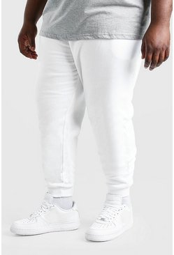 White Plus Size Basic Skinny Fit Jogger