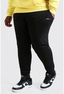 Jogging coupe slim MAN Script Big And Tall, Noir