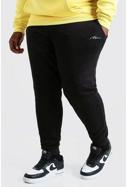 Black Plus Size MAN Script Slim Fit Jogger