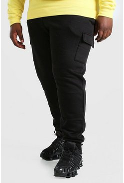Jogging cargo coupe skinny basique Big And Tall, Noir