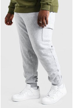 Jogging cargo coupe skinny basique Big And Tall, Gris chiné