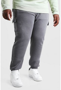 Slate Plus Size Skinny Fit Basic Cargo Jogger