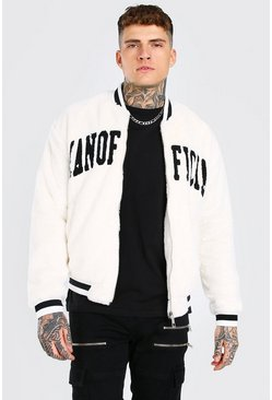 Off white Man Official Faux Fur Bomber