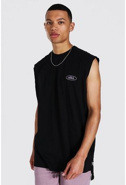 Black Tall Oversized Worldwide Tank