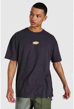Brown Tall Oversized Worldwide Washed T-shirt