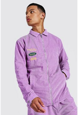 Purple Tall Oversized Official Cord Shacket