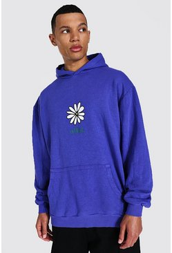 Purple Tall Oversized Official Daisy Hoodie
