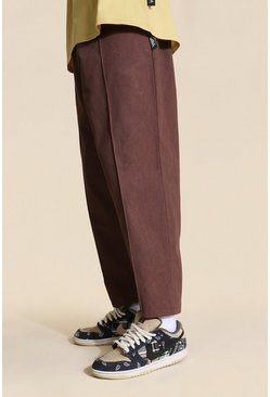 Chocolate Tall Skate Elasticated Waist Cropped Chinos