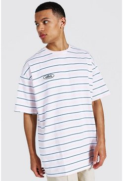 Pink Tall Official Oversized Stripe T-shirt