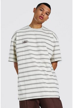 Stone Tall Official Oversized Stripe T-shirt