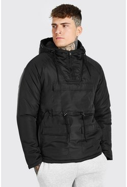 Black Multi Pocket Over Head