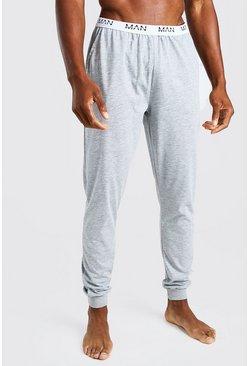 Grey MAN Dash Jacquard Waistband Lounge Jogger Pant